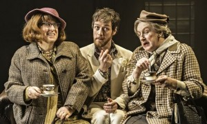 'Devilish charm': James McAvoy finds teatime a drag with Forbes Masson and Paul Leonard in The Rulin